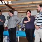 de gauche à droite: André Roder, Michel Angèly, Rudy Ovart, Laurent Remacle,